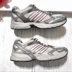 Adidas Ignition silver pink gray running sneakers
